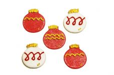 Christmas Baubles Sugar Decorations